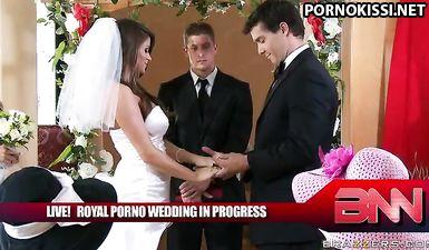 Молодожены устроили массовую оргию и еблю на свадьбе