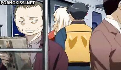Строитель трахнул блондинку на глазах у пассажиров в метро