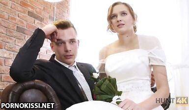 Богатый мужчина хорошо платит за то, чтобы трахнуть молодую красотку в день ее свадьбы