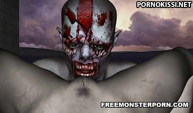 Вагинальное порево зомби-парочки в заброшенном доме