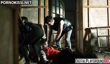 Порно пародия на «Ходячие мертвецы»: Дэрил трахает Мишон