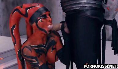 Порно пародия и косплей на «Звездные войны» с яркими костюмами